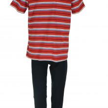 пижама за мъж - пролет/лято 2021, райе, червено/синьо