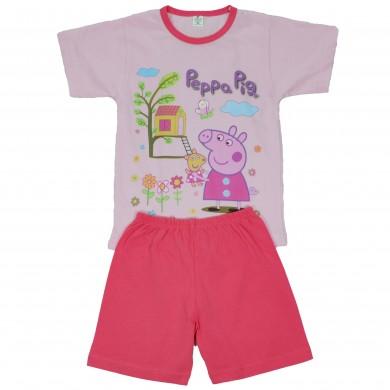 Детска пижама с къс ръкав за момиче, с любими анимационни герои
