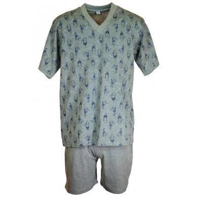 Мъжка пижама с къс ръкав, до макси размер 4XL