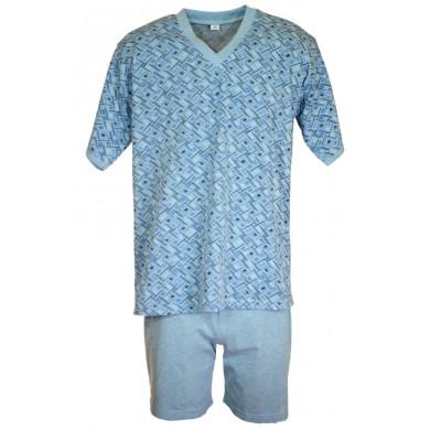 Мъжка пижама с къс ръкав, до макси размер