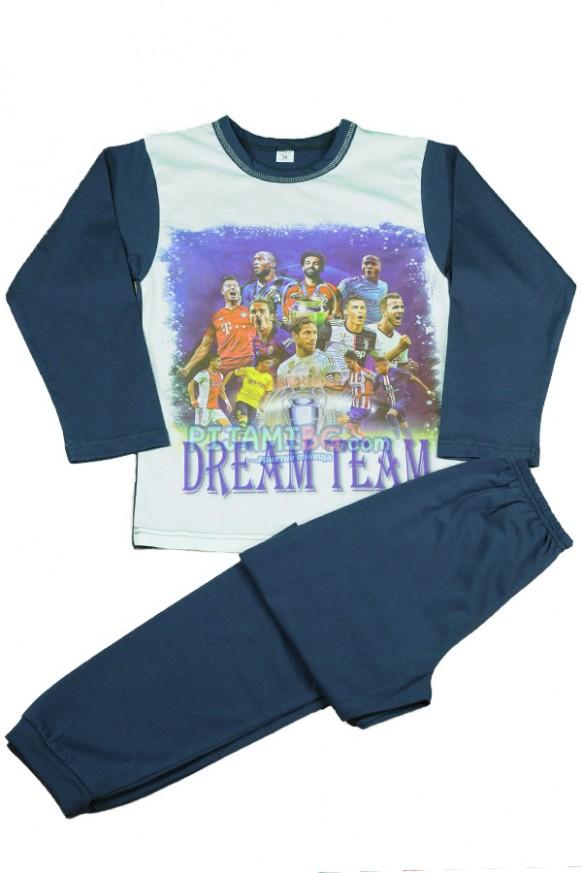 детска пижама Dream Team, зимна, за момче, с дълъг ръкав
