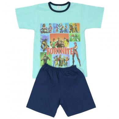 Детска пижама с къс ръкав за момче