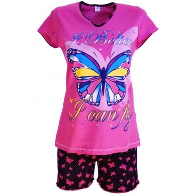 Дамска пижама Пеперуда