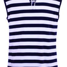 Моряшка тениска без ръкав с връзки