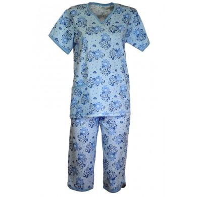 Дамска пижама с къс ръкав