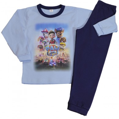 Детска памучна пижама с дълъг ръкав