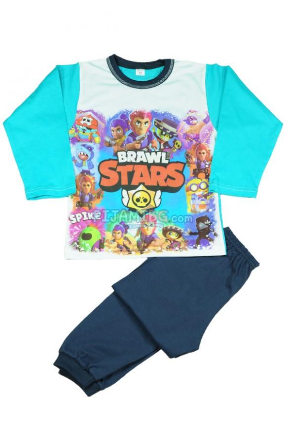 детска пижама Brawl Stars, зимна, за момче, с дълъг ръкав