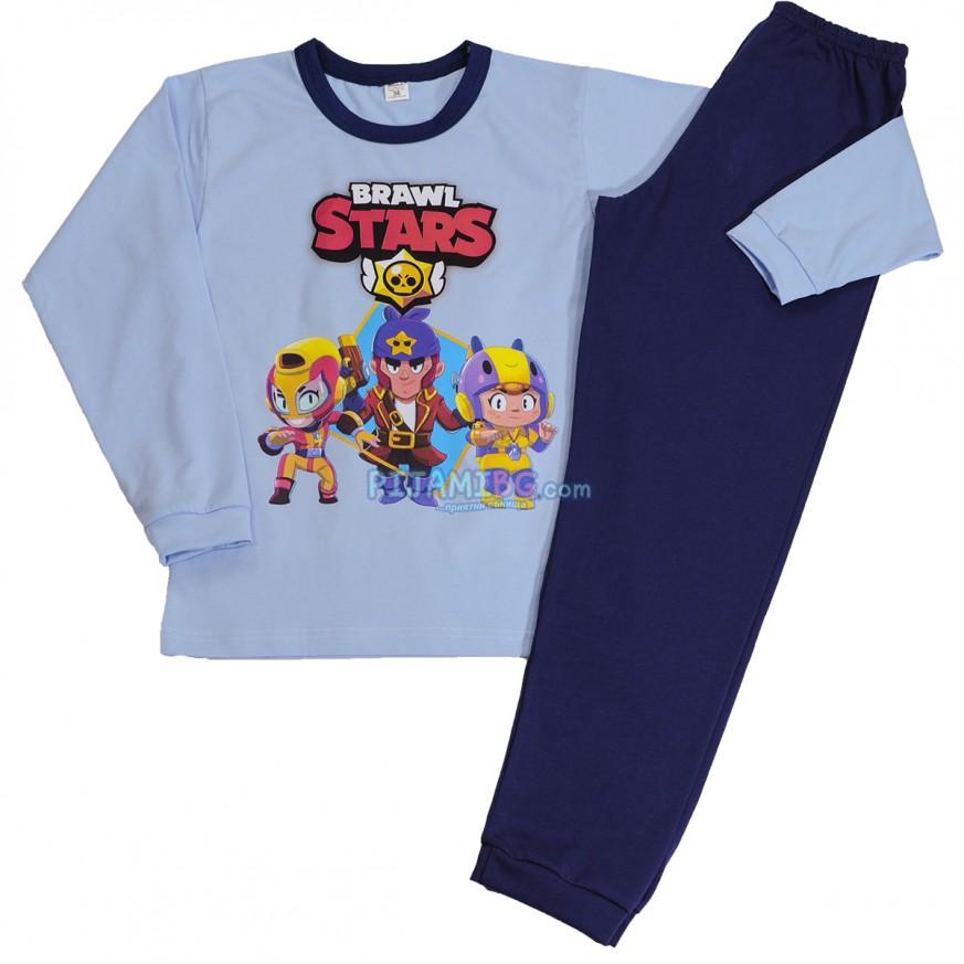 детска пижама Brawl Stars, син цвят, за момче, 5 - 10 години възраст