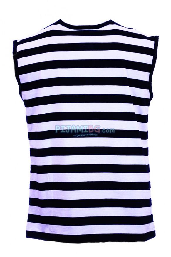 Моряшка тениска без ръкав с връзки, гръб