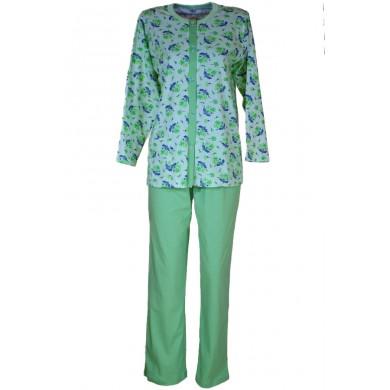 Дамска пижама с копчета