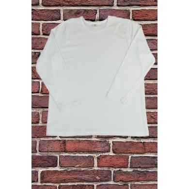 Бяла тениска с дълъг ръкав