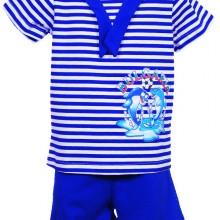 моряшки детски комплект, моряшка блузка с яка